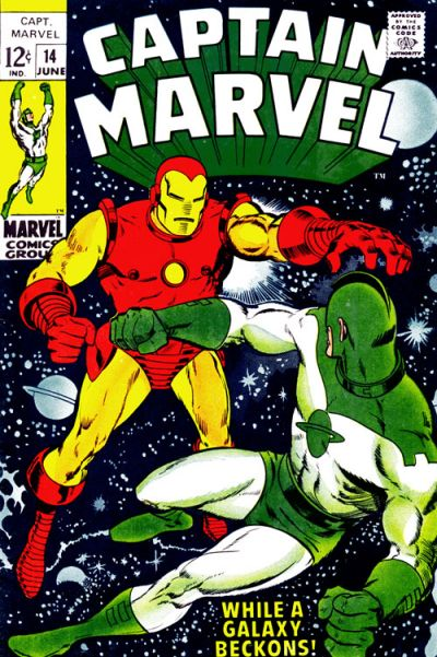 Cover for Captain Marvel (Marvel, 1968 series) #14 [Regular Edition]