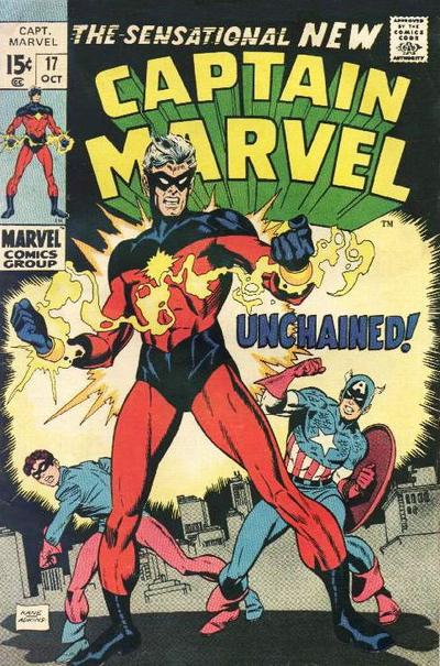 Cover for Captain Marvel (Marvel, 1968 series) #17