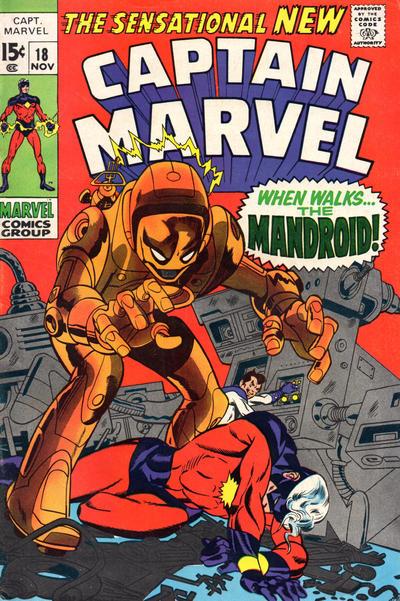 Cover for Captain Marvel (Marvel, 1968 series) #18