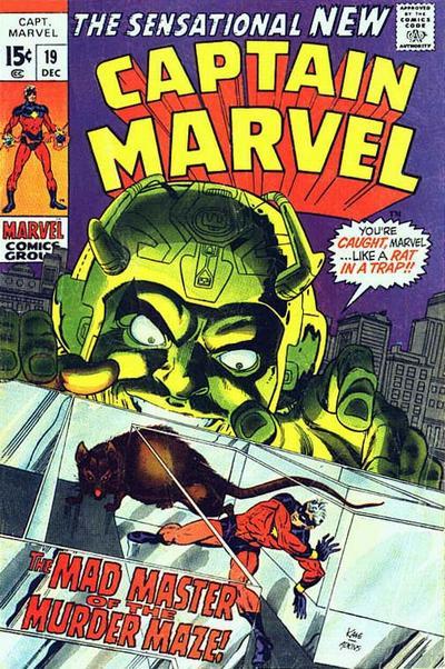 Cover for Captain Marvel (Marvel, 1968 series) #19 [Regular Edition]