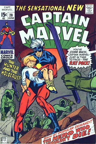 Cover for Captain Marvel (Marvel, 1968 series) #20