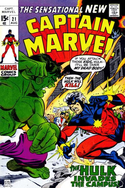 Cover for Captain Marvel (Marvel, 1968 series) #21