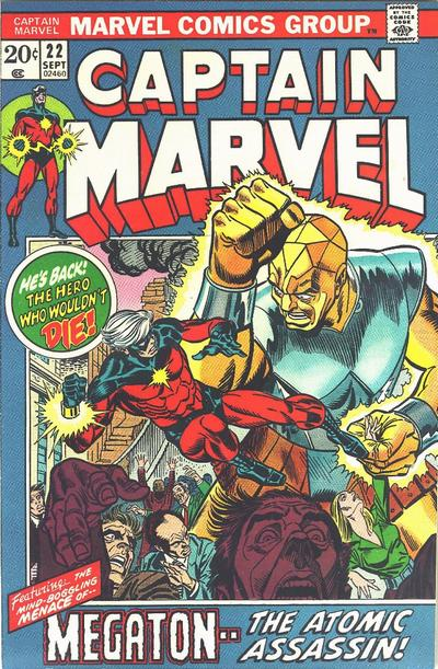 Cover for Captain Marvel (Marvel, 1968 series) #22