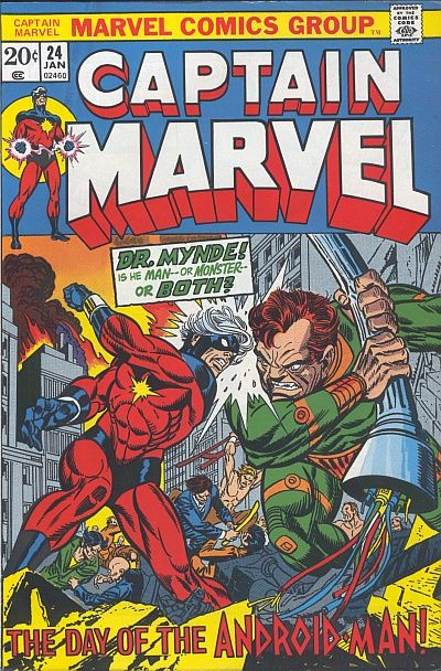 Cover for Captain Marvel (Marvel, 1968 series) #24