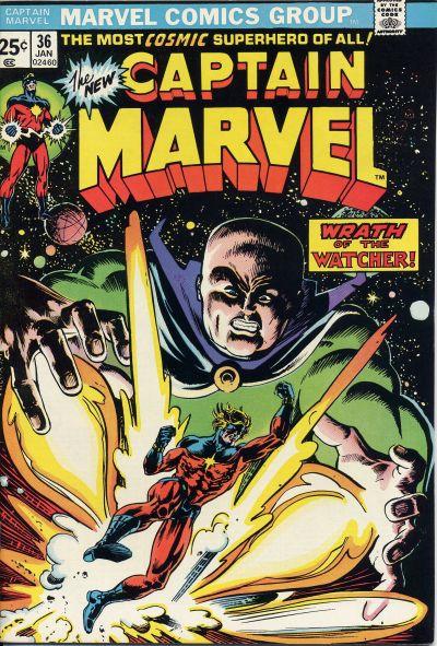 Cover for Captain Marvel (Marvel, 1968 series) #36 [Regular Edition]