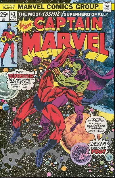 Cover for Captain Marvel (Marvel, 1968 series) #43 [Regular Edition]