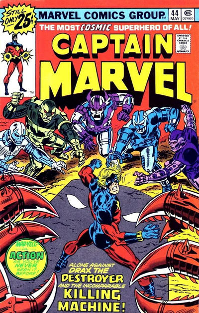 Cover for Captain Marvel (Marvel, 1968 series) #44 [25¢ Cover Price]