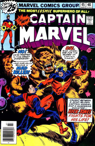 Cover for Captain Marvel (Marvel, 1968 series) #45 [25¢ Cover Price]