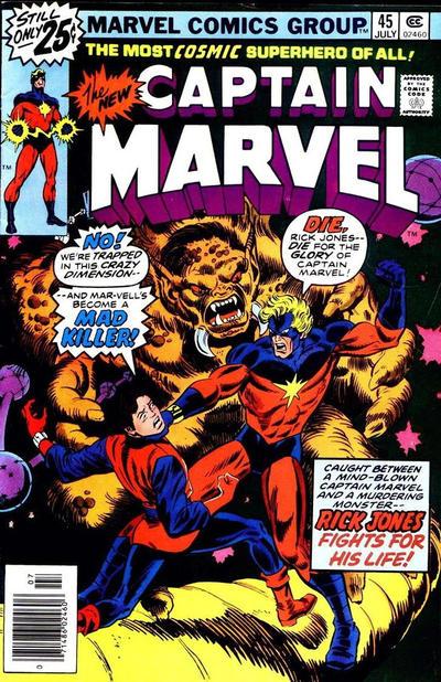 Cover for Captain Marvel (Marvel, 1968 series) #45 [30¢ Price Variant]