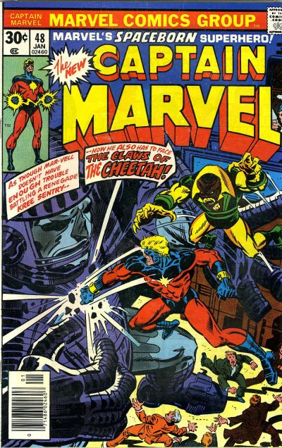 Cover for Captain Marvel (Marvel, 1968 series) #48 [Regular Edition]