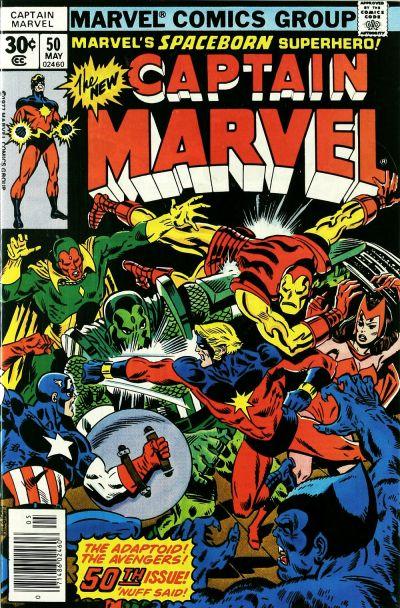 Cover for Captain Marvel (Marvel, 1968 series) #50 [Regular Edition]