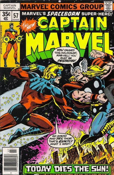 Cover for Captain Marvel (Marvel, 1968 series) #57 [Regular Edition]