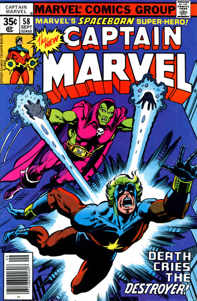 Cover for Captain Marvel (Marvel, 1968 series) #58 [Regular Edition]