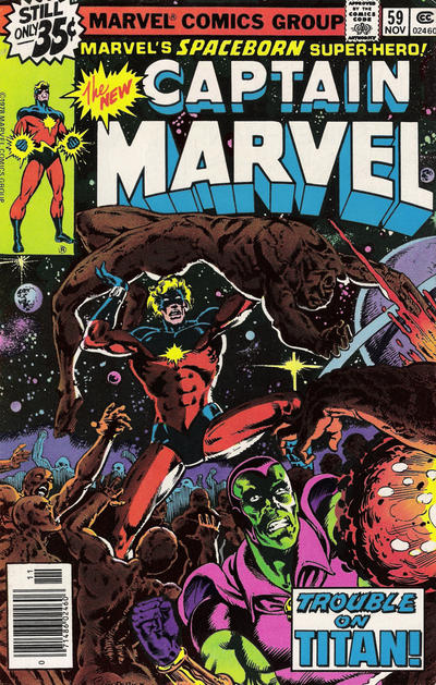 Cover for Captain Marvel (Marvel, 1968 series) #59 [Regular Edition]