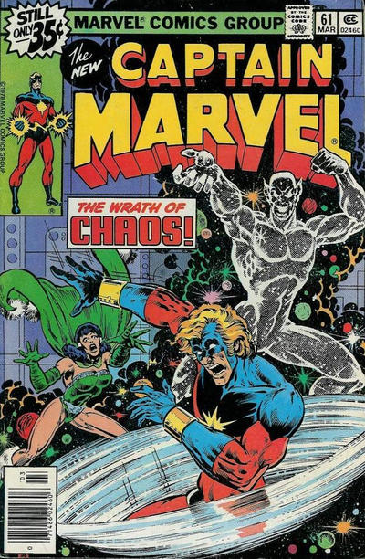 Cover for Captain Marvel (Marvel, 1968 series) #61 [Regular Edition]