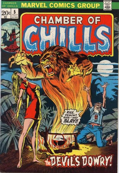 Cover for Chamber of Chills (Marvel, 1972 series) #5