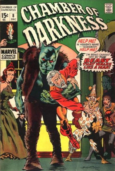 Cover for Chamber of Darkness (Marvel, 1969 series) #8