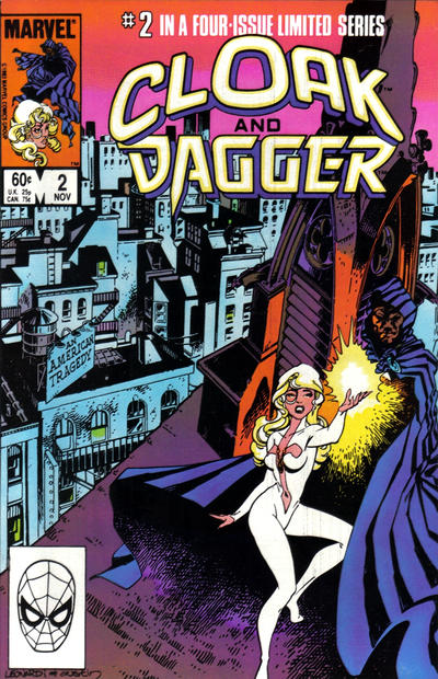 Cover for Cloak and Dagger (Marvel, 1983 series) #2 [Newsstand Edition]