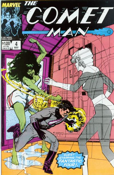 Cover for Comet Man (Marvel, 1987 series) #4