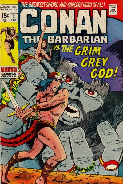 Cover for Conan the Barbarian (Marvel, 1970 series) #3