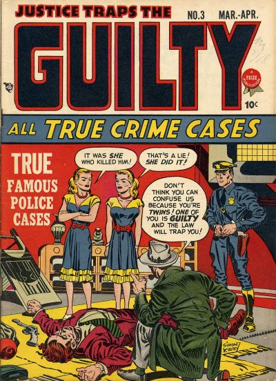 Cover for Justice Traps the Guilty (Prize, 1947 series) #v1#3 (3)