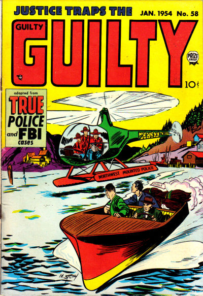 Cover for Justice Traps the Guilty (Prize, 1947 series) #v7#4 (58)