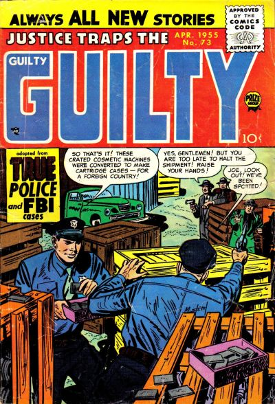 Cover for Justice Traps the Guilty (Prize, 1947 series) #v8#7 (73)