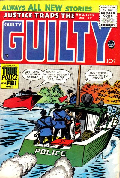 Cover for Justice Traps the Guilty (Prize, 1947 series) #v8#11 (77)