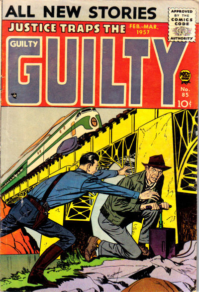 Cover for Justice Traps the Guilty (Prize, 1947 series) #v10#1 (85)