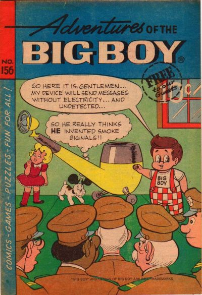 Cover for Adventures of the Big Boy (Webs Adventure Corporation, 1957 series) #156