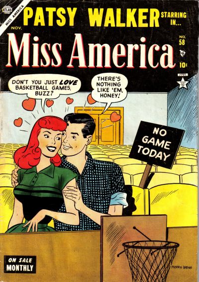 Cover for Miss America (Marvel, 1953 series) #58