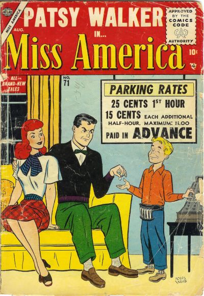 Cover for Miss America (Marvel, 1953 series) #71