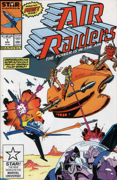 Cover for Air Raiders (Marvel, 1987 series) #1 [Direct Edition]