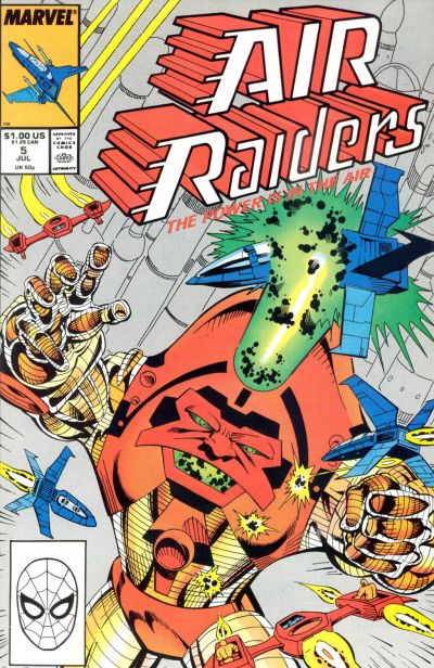 Cover for Air Raiders (Marvel, 1987 series) #5 [Direct Edition]