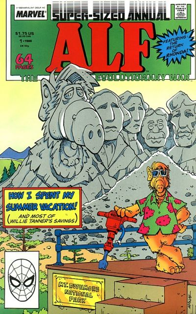 Cover for Alf Annual (Marvel, 1988 series) #1 [Direct]