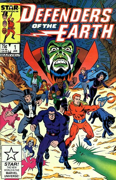 Cover for Defenders of the Earth (Marvel, 1987 series) #1