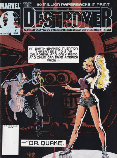 Cover for The Destroyer (Marvel, 1989 series) #9 [Newsstand]