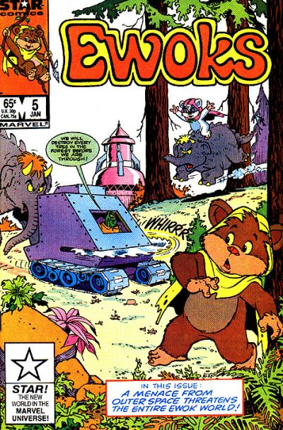 Cover for The Ewoks (Marvel, 1985 series) #5 [Newsstand]