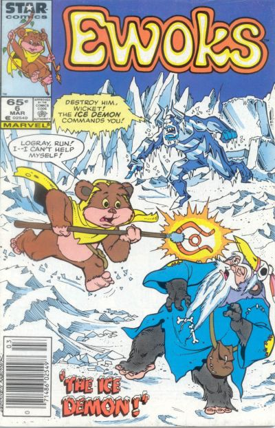 Cover for The Ewoks (Marvel, 1985 series) #6 [Direct]