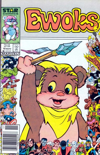 Cover for The Ewoks (Marvel, 1985 series) #10 [Newsstand]