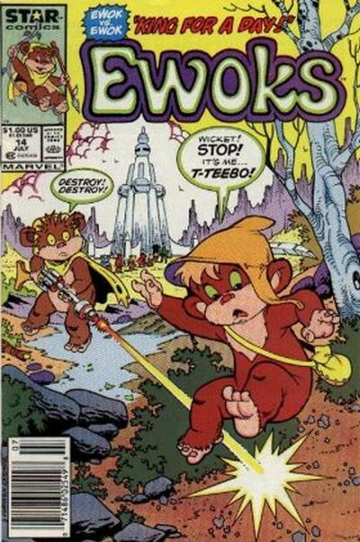 Cover for The Ewoks (Marvel, 1985 series) #14 [Direct]