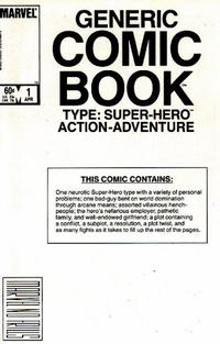 Cover Thumbnail for The Generic Comic (Marvel, 1984 series) #1