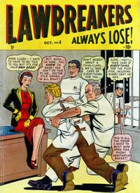 Cover Thumbnail for Lawbreakers Always Lose (Marvel, 1948 series) #4