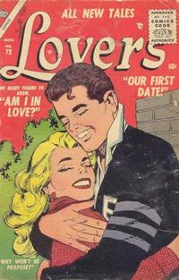 Cover Thumbnail for Lovers (Marvel, 1949 series) #72