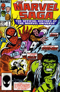 Cover Thumbnail for The Marvel Saga the Official History of the Marvel Universe (Marvel, 1985 series) #2 [Direct]