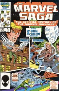Cover Thumbnail for The Marvel Saga the Official History of the Marvel Universe (Marvel, 1985 series) #5 [Direct]