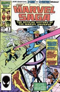 Cover Thumbnail for The Marvel Saga the Official History of the Marvel Universe (Marvel, 1985 series) #8 [Direct Edition]