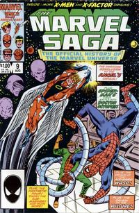Cover Thumbnail for The Marvel Saga the Official History of the Marvel Universe (Marvel, 1985 series) #9 [Direct Edition]