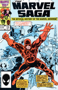 Cover Thumbnail for The Marvel Saga the Official History of the Marvel Universe (Marvel, 1985 series) #13 [Direct Edition]