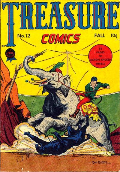 Cover for Treasure Comics (Prize, 1945 series) #12